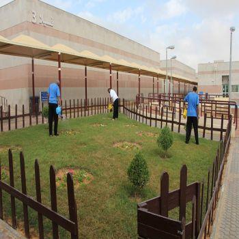 مستشفى الصحة النفسية يجهز الحديقة الصغيرة لنزلائه
