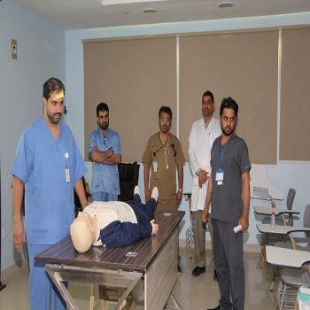 إدارة التمريض بالمستشفى تنظم محاضرة وورشة عمل RAPID RESPONSE COURSE