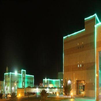 مستشفى الصحة النفسية يتوشح بالأخضر احتفاء بيوم الوطن الـ87